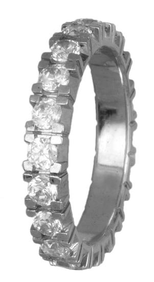 Σειρέ δαχτυλίδι λευκόχρυσο Κ18 018603 018603 Χρυσός 18 Καράτια