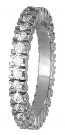 Σειρέ δαχτυλίδι λευκόχρυσο Κ18 018606 018606 Χρυσός 18 Καράτια