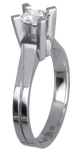 Μονόπετρο δαχτυλίδι 18Κ με διαμάντι 018628 018628 Χρυσός 18 Καράτια