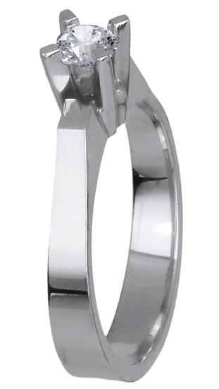 Δαχτυλίδι γάμου με διαμάντι 018644 018644 Χρυσός 18 Καράτια