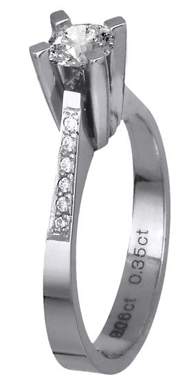 Μονόπετρο δαχτυλίδι με διαμάντια 018647 018647 Χρυσός 18 Καράτια χρυσά κοσμήματα δαχτυλίδια μονόπετρα