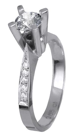 Μονόπετρο δαχτυλίδι 018669 018669 Χρυσός 18 Καράτια