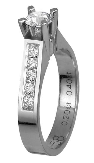 Δαχτυλίδι μονόπετρο 018683 018683 Χρυσός 18 Καράτια