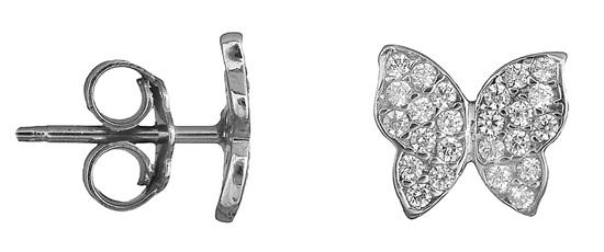 Γυναικεία σκουλαρίκια πεταλούδες 018758 018758 Χρυσός 14 Καράτια