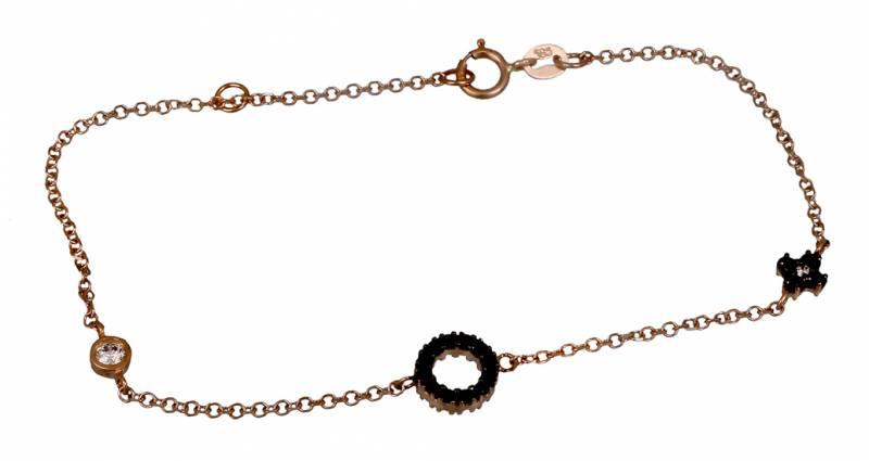 Ροζ χρυσό βραχιόλι 018774 018774 Χρυσός 14 Καράτια χρυσά κοσμήματα βραχιόλια