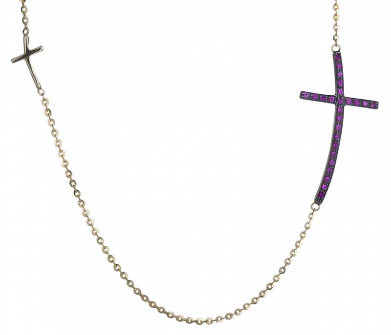 Κολιέ σταυρός 018881 018881 Χρυσός 14 Καράτια χρυσά κοσμήματα κολιέ