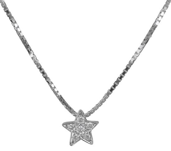 Λευκόχρυσο Κολιέ αστέρι Κ18 018892 018892 Χρυσός 18 Καράτια