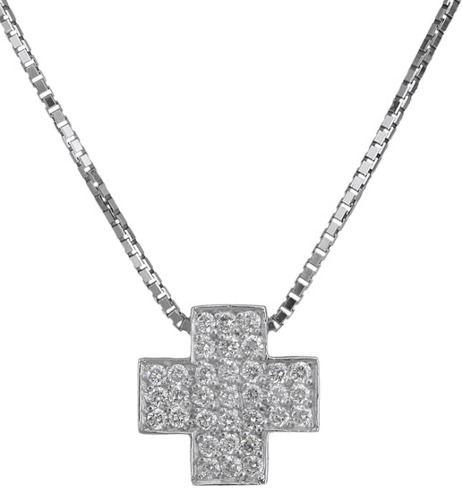 Λευκόχρυσος σταυρός Κ18 018894 018894 Χρυσός 18 Καράτια