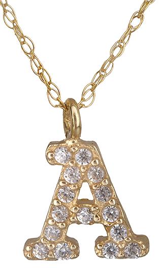 Μονόγραμμα A από χρυσό 14Κ 018905 018905 Χρυσός 14 Καράτια