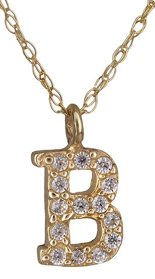 Μονόγραμμα Β από χρυσό 14Κ 018908 018908 Χρυσός 14 Καράτια