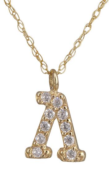 Χρυσό μονόγραμμα Λ 018925 018925 Χρυσός 14 Καράτια