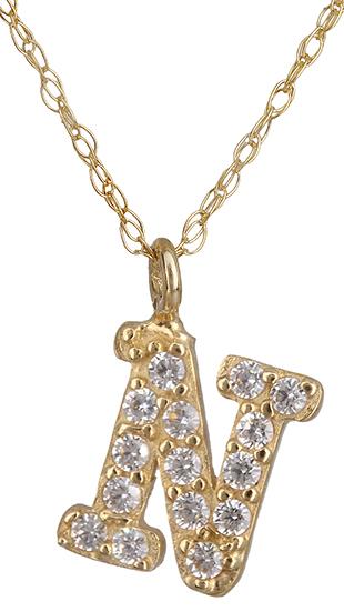Μονόγραμμα Ν από χρυσό 14Κ 018930 018930 Χρυσός 14 Καράτια