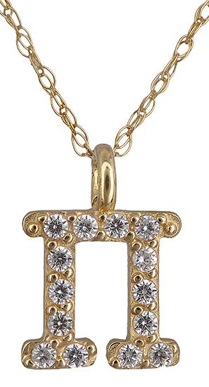 Μονόγραμμα Π από χρυσό 14Κ 018935 018935 Χρυσός 14 Καράτια