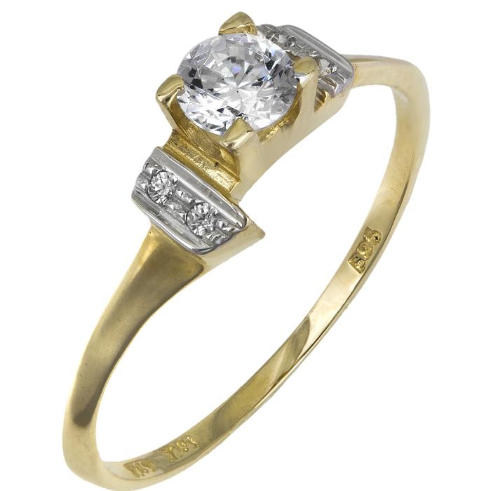 Μονόπετρο δαχτυλίδι Κ14 018947 018947 Χρυσός 14 Καράτια