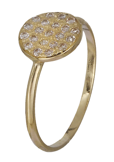 Δαχτυλίδι χρυσό Κ14 018954 018954 Χρυσός 14 Καράτια χρυσά κοσμήματα δαχτυλίδια με μαργαριτάρια και διάφορες πέτρες