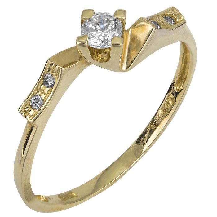 Μονόπετρο δαχτυλίδι Κ14 018960 018960 Χρυσός 14 Καράτια