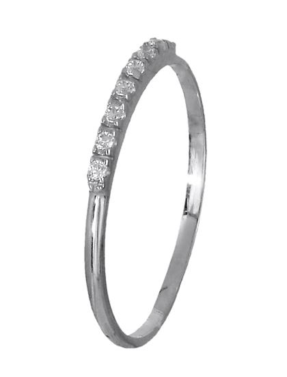Δαχτυλίδι λευκόχρυσο 14Κ 018967 018967 Χρυσός 14 Καράτια