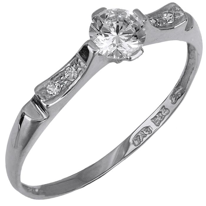 Μονόπετρο δαχτυλίδι Κ14 018974 018974 Χρυσός 14 Καράτια