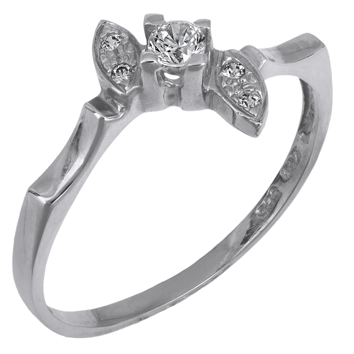 Μονόπετρο δαχτυλίδι Κ14 018979 018979 Χρυσός 14 Καράτια
