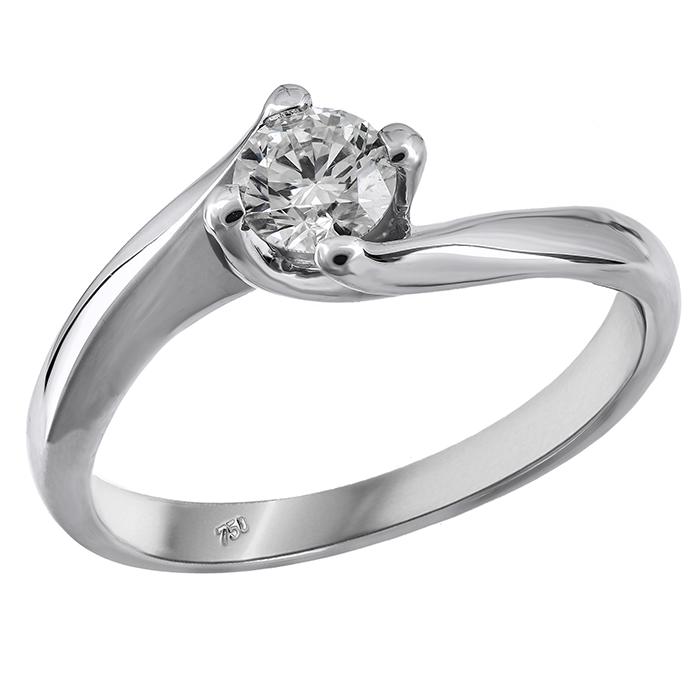 Μονόπετρο με διαμάντι 018994 018994 Χρυσός 18 Καράτια