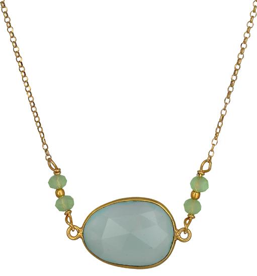 Ασημένιο κολιέ με πέτρα Σεληνίτη 019032 019032 Ασήμι ασημένια κοσμήματα κολιέ