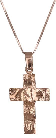 Ροζ gold σταυρός C019067 019067C Χρυσός 14 Καράτια χρυσά κοσμήματα σταυροί