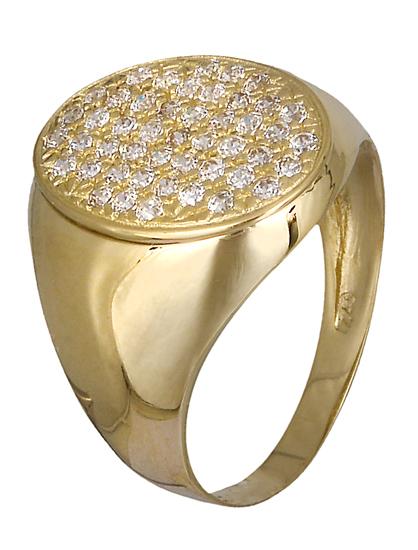 Δαχτυλίδι σεβαλιέ Κ14 019071 019071 Χρυσός 14 Καράτια