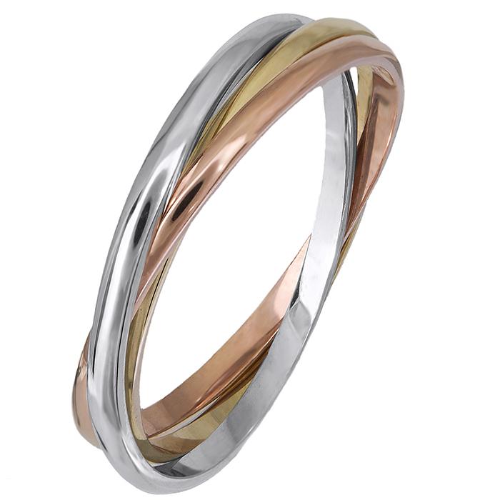 Τρίχρωμο δαχτυλίδι βέρα 14Κ 019072 019072 Χρυσός 14 Καράτια ... 15fcfeb3040