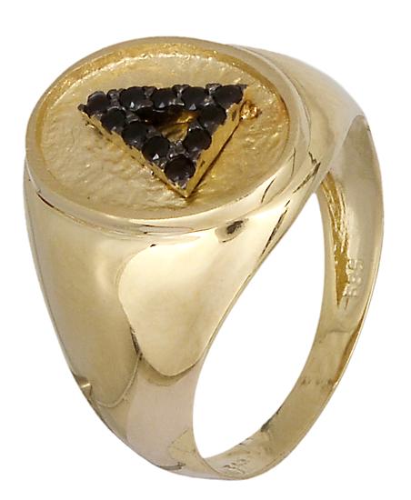 Δαχτυλίδι σεβαλιέ Κ14 019073 019073 Χρυσός 14 Καράτια χρυσά κοσμήματα δαχτυλίδια με μαργαριτάρια και διάφορες πέτρες