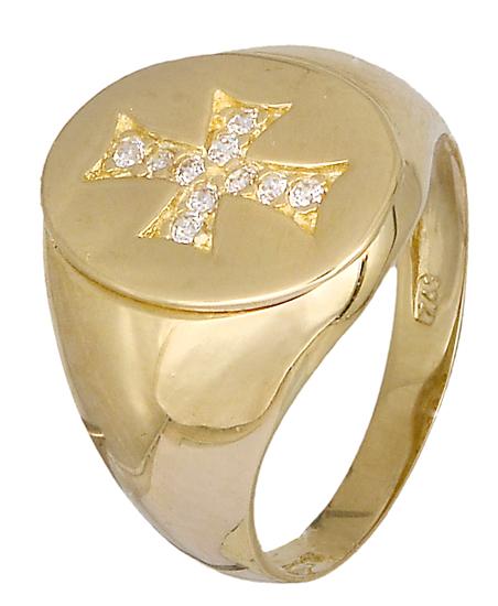 Δαχτυλίδι σεβαλιέ Κ14 019075 019075 Χρυσός 14 Καράτια χρυσά κοσμήματα δαχτυλίδια με μαργαριτάρια και διάφορες πέτρες