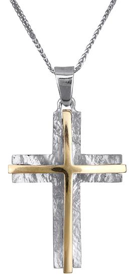 880d51ead63 Βαπτιστικοί Σταυροί με Αλυσίδα Δίχρωμος σταυρός Κ14 C019079 019079C ...