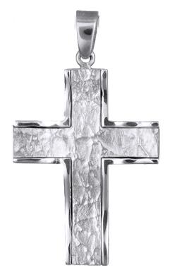 Σταυροί Βάπτισης - Αρραβώνα Λευκόχρυσος Ανδρικός Σταυρός Κ14 018146 018146 Ανδρικό Χρυσός 14 Καράτια