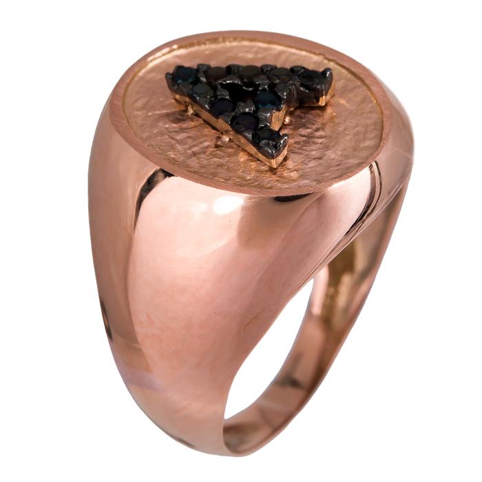 Δαχτυλίδι ροζ χρυσό Κ14 019109 019109 Χρυσός 14 Καράτια χρυσά κοσμήματα δαχτυλίδια με μαργαριτάρια και διάφορες πέτρες