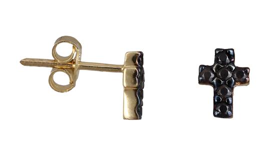 Χρυσά σκουλαρίκια σταυρός Κ14 019139 019139 Χρυσός 14 Καράτια
