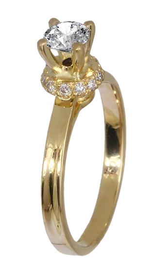 Χρυσό μονόπετρο Κ18 με brilliant 019144 019144 Χρυσός 18 Καράτια