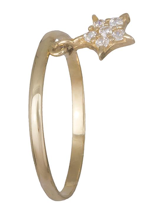 Γυναικείο δαχτυλίδι με αστεράκι 14Κ 019184 019184 Χρυσός 14 Καράτια
