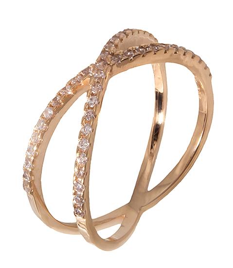 Δαχτυλίδι ροζ χρυσό 14K 019204 019204 Χρυσός 14 Καράτια
