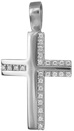 Σταυροί Βάπτισης - Αρραβώνα Γυναικείος σταυρός Κ14 019216 019216 Γυναικείο Χρυσός 14 Καράτια