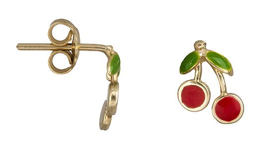 Παιδικά σκουλαρίκια κερασάκι 019221 019221 Χρυσός 14 Καράτια