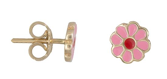 Χρυσά σκουλαρίκια Κ14 λουλούδι 019227 019227 Χρυσός 14 Καράτια