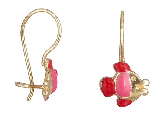 Παιδικά σκουλαρίκια ψαράκι 019230 019230 Χρυσός 14 Καράτια