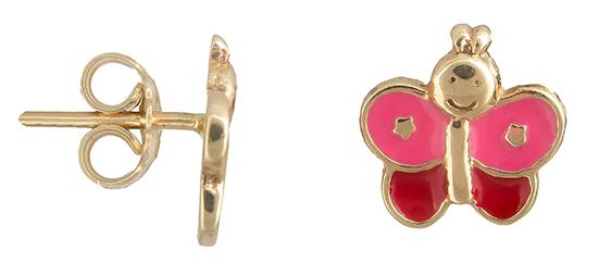 Χρυσά σκουλαρίκια Κ14 πεταλούδα 019235 019235 Χρυσός 14 Καράτια