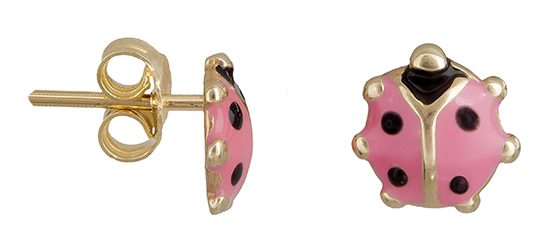 Παιδικά σκουλαρίκια Κ14 πασχαλίτσα 019236 019236 Χρυσός 14 Καράτια