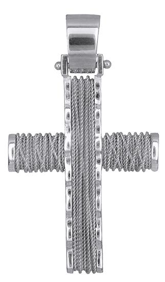 Σταυροί Βάπτισης - Αρραβώνα Αντρικός συρματερός σταυρός 14Κ 019288 019288 Ανδρικό Χρυσός 14 Καράτια