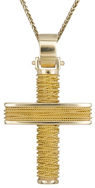 Βαπτιστικοί Σταυροί με Αλυσίδα Αντρικός σταυρός χρυσός 14Κ C019293 019293C Ανδρικό Χρυσός 14 Καράτια
