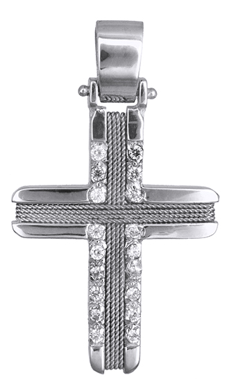 Σταυροί Βάπτισης - Αρραβώνα Γυναικείος σταυρός με σύρμα Κ14 019301 019301 Γυναικείο Χρυσός 14 Καράτια
