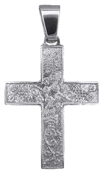 Σταυροί Βάπτισης - Αρραβώνα Λευκόχρυσος βαπτιστικός σταυρός 019304 019304 Χρυσός 14 Καράτια