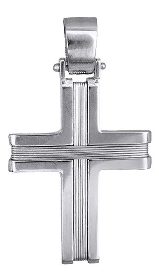 Σταυροί Βάπτισης - Αρραβώνα Αντρικός λευκόχρυσος σταυρός 14Κ 019314 019314 Ανδρικό Χρυσός 14 Καράτια