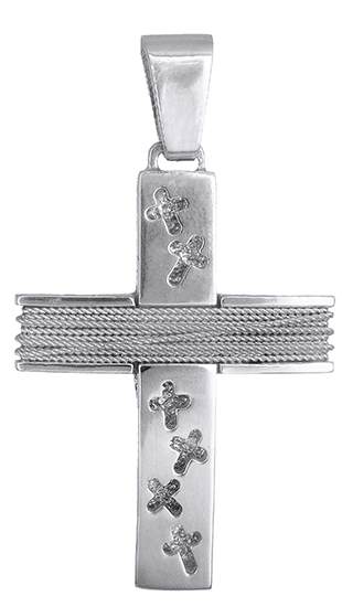 Σταυροί Βάπτισης - Αρραβώνα Βαπτιστικός σταυρός λευκόχρυσος 14Κ 019316 019316 Χρυσός 14 Καράτια