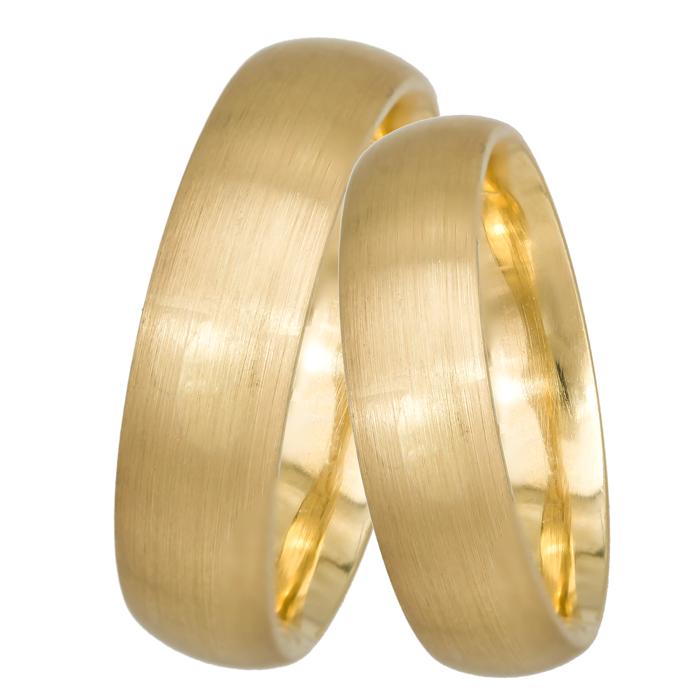 Ματ βέρες χρυσές Κ14 019327 019327 Χρυσός 14 Καράτια